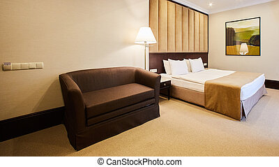 Beautiful bedroom decoration interior design in hotel