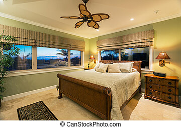 Beautiful Bedroom Interior in New Luxury Home,