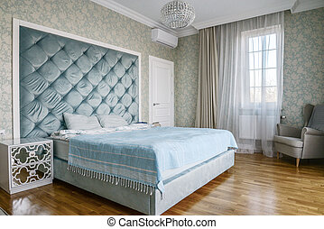 Beautiful bedroom with king size bed