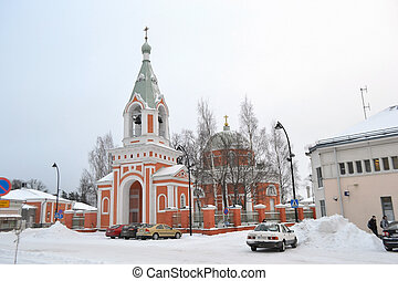 Beautiful belfry in Hamina - View of beautiful belfry in...