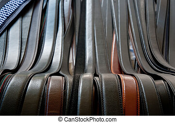 beautiful belts of real brown and black leather