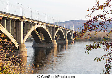 Beautiful big bridge over the river