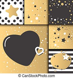 Beautiful Birthday Invitation Card Design Gold And Black Vector - Birthday invitation card eps
