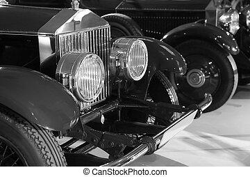 black ancient car