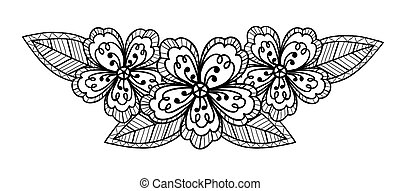 Hand draw black and white line art ornate flower design eps beautiful black and white flower hand drawing mightylinksfo