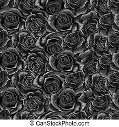 Beautiful black and white monochrome seamless pattern in...