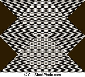 Beautiful black and white seamless print of gently curving lines. Vector illustration for stylish fashion design