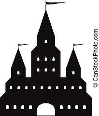 Beautiful black castle silhouette