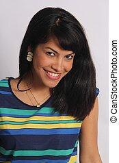 Beautiful Black-Haired Beauty