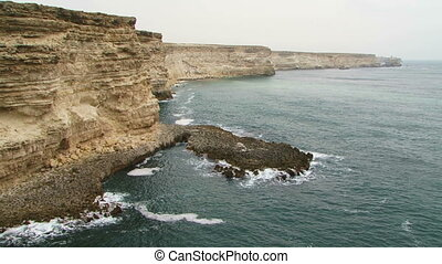 Beautiful Black Sea Coast Of Cape Tarkhankut in Crimea