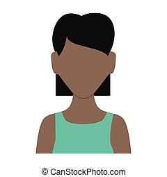 beautiful black woman avatar character