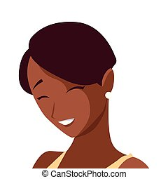 beautiful black woman character
