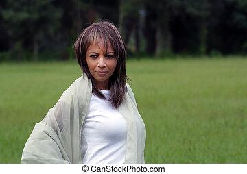 Beautiful Black Woman Outdoors (1)