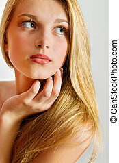 Beautiful Blond Girl. Blonde Hair.