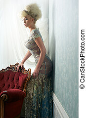 Beautiful Blond in Wedding Dress