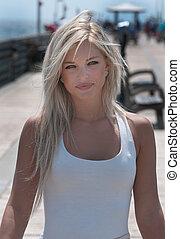 Beautiful Blond Model