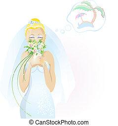 beautiful blonde bride