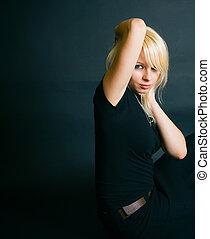 Beautiful Blonde In A Studio