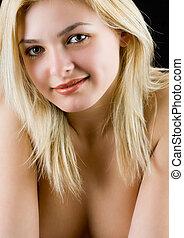 Beautiful blonde lady