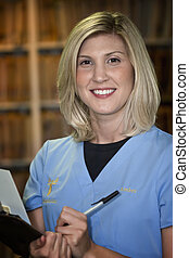 Beautiful Blonde Medical Assistant