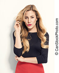 Beautiful blonde posing.