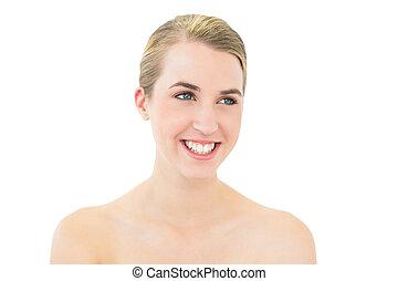 Beautiful blonde posing