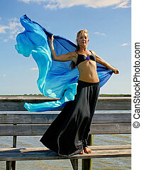 statuesque dancer - beautiful blonde statuesque dancer poses...