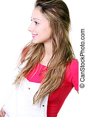 beautiful blonde young woman.