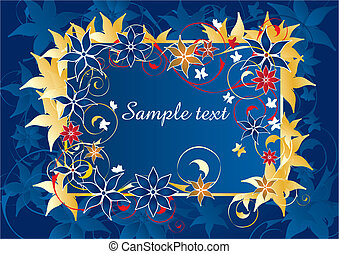 Beautiful blue and gold frame