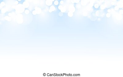 Beautiful blue background with bokeh. Background for cards, flyers, posters. Vector illustration