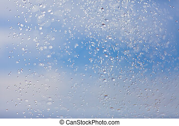 Beautiful blue background with water drops