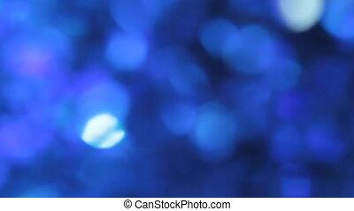 Beautiful blue bokeh, abstract