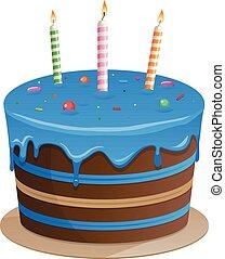 Beautiful blue cake vector illustration clip art