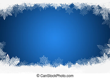 beautiful blue christmas background with snowflakes can stock photo
