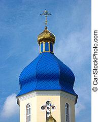 Beautiful blue church dome