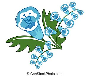Beautiful blue flower - Blue flower on white background is...