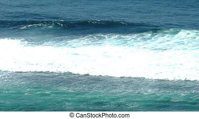 Beautiful Blue Giant Ocean Wave in slow motion