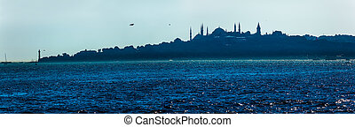Beautiful blue Istanbul