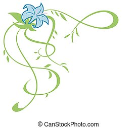 Beautiful blue lily flowers illustration 2