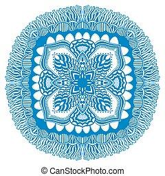 Beautiful blue mandala.