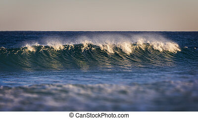 Beautiful Blue Ocean Wave  in Costa Brava coastal in Spain