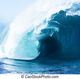 Beautiful Blue Ocean Wave