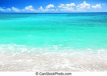 Beautiful blue sea beach