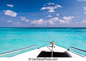 Beautiful blue sea ,blue sky from tachai island