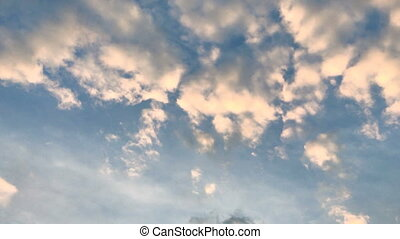 beautiful blue sky and warm clouds