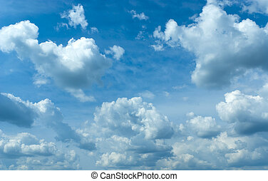 blue sky - Beautiful blue sky and white clouds