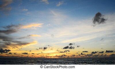 Beautiful blue sky at sea