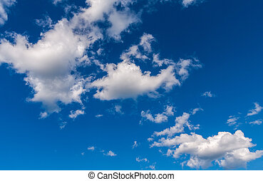 Beautiful blue sky with white clouds as background