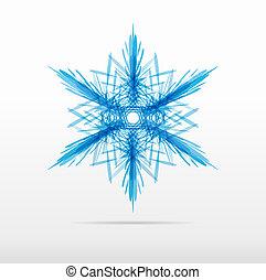 beautiful blue snowflake flower vector design
