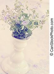 spring flower in a vase, vintage